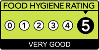 5 Star Food Hygiene Rating Awarded
